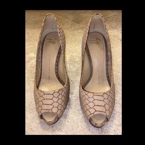 Giuseppe Zanotti Peep Toe Stilettos Size 37